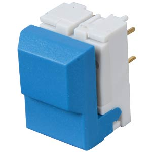Push button, switching voltage: 24 V, blue ITT SCHADOW SER-BU-AU-OA