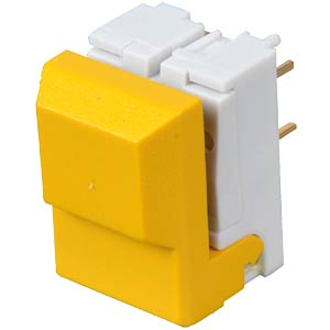 Push button, switching voltage: 24 V, yellow ITT SCHADOW