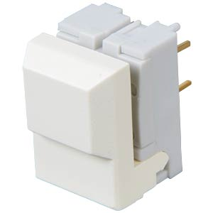 Push button, switching voltage: 24 V, white ITT SCHADOW