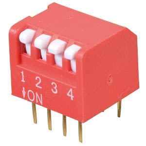 Piano dip switch, 4-pin FREI