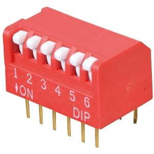 Piano dip switch, 6-pin FREI DP 06