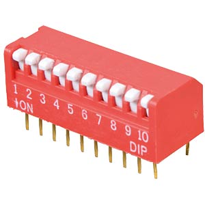 Piano dip switch, 10-pin FREI