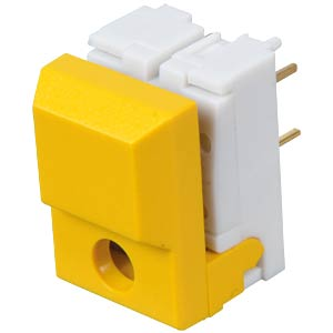 Push button, switching voltage: 24 V, for LED, yellow ITT SCHADOW