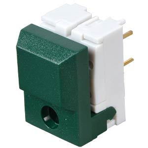 Push button, switching voltage: 24 V, for LED, green ITT SCHADOW