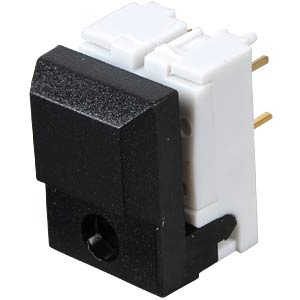 Push button, switching voltage: 24V, for LED, black ITT SCHADOW