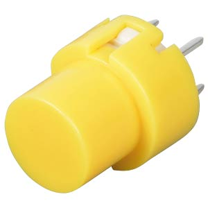 Push button, switching voltage: 100 V, round, yellow ITT SCHADOW