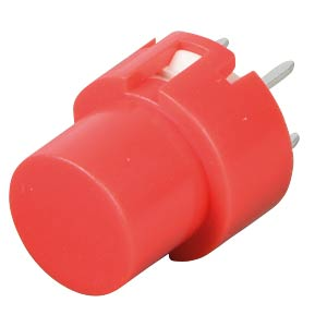 Push button, switching voltage: 100 V, round, red ITT SCHADOW