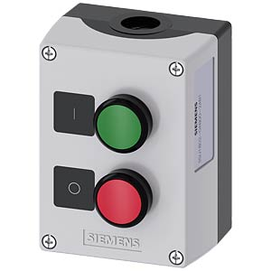 Push-button 22 mm double, 1 NC contact/1 NO contact, red/green SIEMENS 3SU1802-0AB00-2AB1
