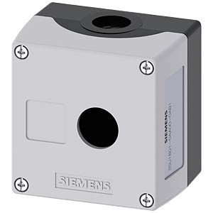 Enclosure, 22 mm — round, grey, 1 command point SIEMENS 3SU1801-0AA00-0AB1