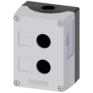 Enclosure, 22 mm — round, grey, 2 command points SIEMENS 3SU1802-0AA00-0AB1
