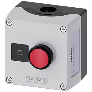 Push-button 22 mm, single, 1 NC contact, red SIEMENS 3SU1801-0AC00-2AB1