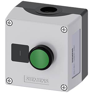 Push-button 22 mm, single, 1 NO contact, green SIEMENS 3SU1801-0AB00-2AB1