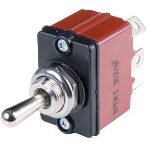 Lever switch 3600NF series, 1x (ON) - OFF - (ON) APEM 3637NF/2