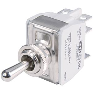 Lever switch to 10 A, 2x ON - OFF APEM 641H/2