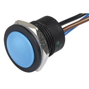 Drucktaster IA 16 mm - flaches Profil, NO / NC, bl APEM IAR5F1100
