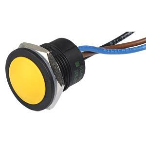 Drucktaster IA 16 mm - flaches Profil, NC / NO, ge APEM IAR5F1500