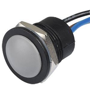 Drucktaster IA 16 mm - flaches Profil, NC / NO, grau APEM IAR5F1400