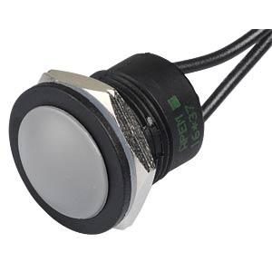 Drucktaster IA 16 mm - flaches Profil, NO, gr APEM IAR3F1400
