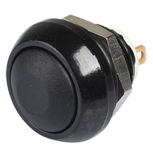 IC pushbutton 12 mm - curved, solder, black APEM ICR3SAD2