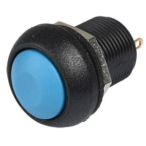 IL pushbutton 12mm - curved, solder, blue APEM ILR3SAD1