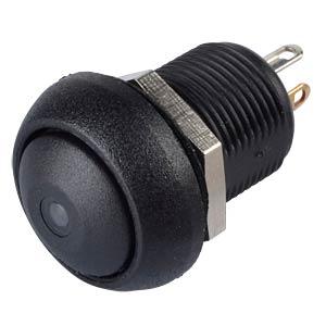 Drucktaster IL 12 mm - gewölbt, Löt, sw, LED ws APEM ILR3SAD2L0W