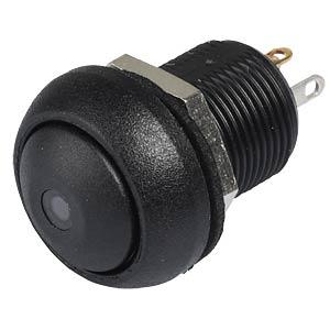 Drucktaster IL 12 mm - gewölbt, Löt, sw, LED bl APEM ILR3SAD2L0B