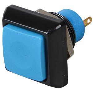 Square push button, Ø 13.6 mm, 0.2 A - 250 VAC, blue APEM IPC3SAD1