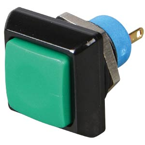 Square push button, Ø 13.6 mm, 0.2 A - 250 VAC, green APEM IPC3SAD3