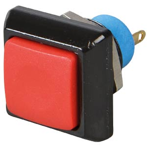 Square push button, Ø 13.6 mm, 0.2 A - 250 VAC, red APEM IPC3SAD6