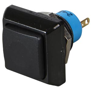 Drucktaster eckig, Ø13,6mm, 0,2A-250VAC schw APEM IPC3SAD2