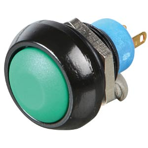 Round push button, Ø 12 mm, 0.2 A - 250 VAC, green APEM IPR3SAD3