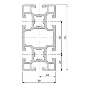 Profil 40+ geschl. BC 40x80 50cm FLEXLINK J924187610050