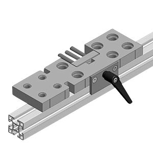 Drilling jig for M8/M12 connectors, central FLEXLINK J9247050099