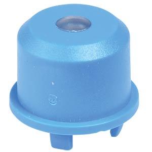 Kappe Multimec 5, Ø9,6mm, bl, Linse trans. APEM 1ES001