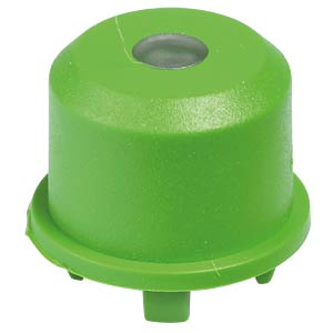 1ES cap for Multimec 5, Ø 9.6 mm, green, transparent lens APEM 1ES021