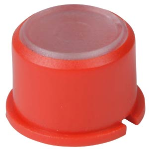 Round red cap for button 3F... MEC SWITCHES 1F081