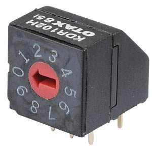 Rotary code switch, 16 positions, horizontal OTAX KDR-162H