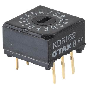 Rotary code switch, 16 positions, vertical OTAX KDR162