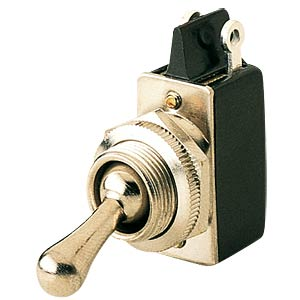 Toggle switch, 1-pin, changeover switch, black MARQUARDT 0101.0601-00