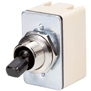 Toggle switch, 2-pin, OFF, black MARQUARDT 0145.1220-00
