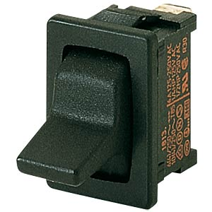 Toggle switch, 1-pin, changeover switch, black MARQUARDT 01818.1102-00