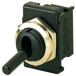 Toggle switch, 1-pin, OFF, black MARQUARDT 01821.6101-00