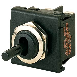 Toggle switch, 2-pin, OFF, black MARQUARDT 01822.1101-01