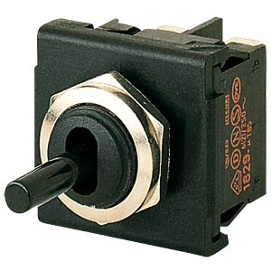 Toggle switch, 2-pin, changeover switch, black MARQUARDT 01824.1101-01