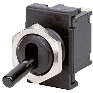 Toggle switch, 1-pin, changeover switch, black MARQUARDT 01828.1101-01