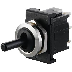 Toggle switch, 1-pin, changeover switch, black MARQUARDT 01828.1301-01