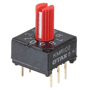 Rotary encoder switch, 10-way, with vertical axis OTAX KMR-102