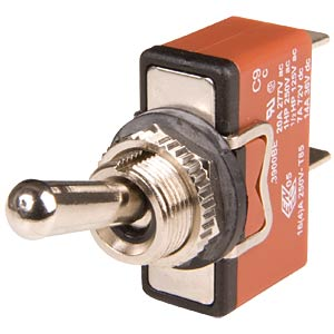 Toggle switch with metal lever, 1x ON - OFF - ON ARCOLECTRIC C3920BEAAA