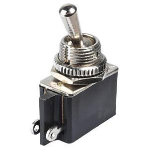 Toggle switch, 2 A - 250 V AC, 1x On FREI