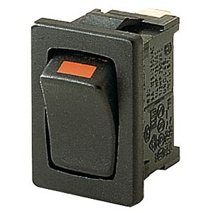 Rocker switch, 1-pin, UM, black MARQUARDT 01803.1102-00